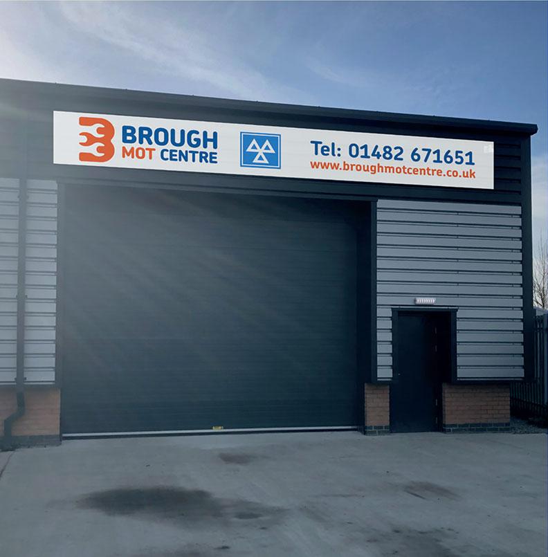 A photograph of the exterior of Brough MOT Centre